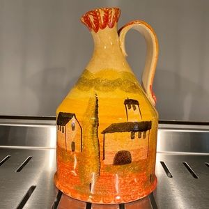 Italian Hand Painted Pitcher